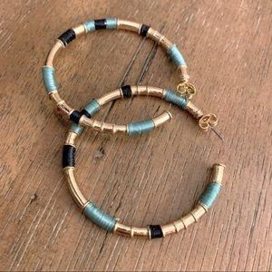 Gold Embroidery Hoop Earrings Anthropologie